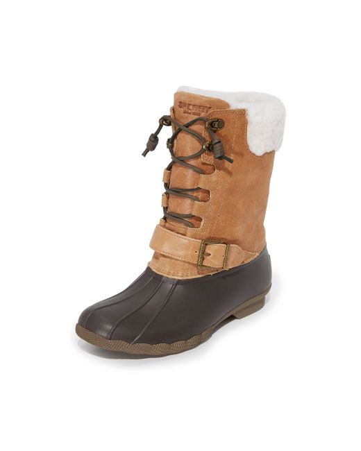 Sperry Top Sider Saltwater Misty Boots In Brown Lyst