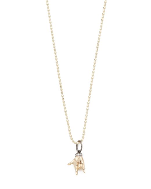 Sydney Evan | Metallic I Love You Sign Language Charm Necklace | Lyst