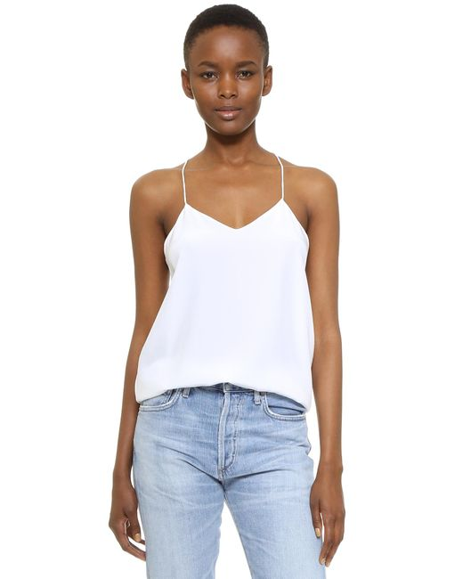 Tibi | White Classic Racer Back Camisole | Lyst