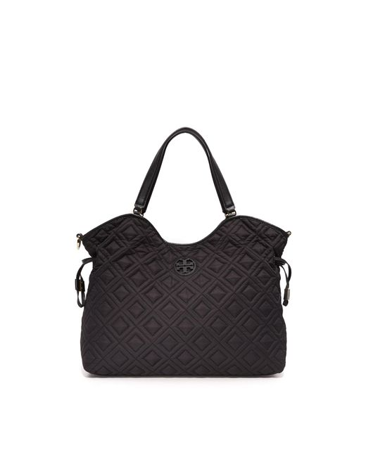 Tory Burch | Black Quilted Slouchy Baby Bag | Lyst