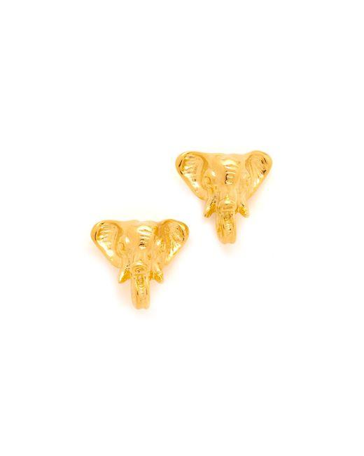 Tory Burch | Metallic Elephant Stud Earrings | Lyst