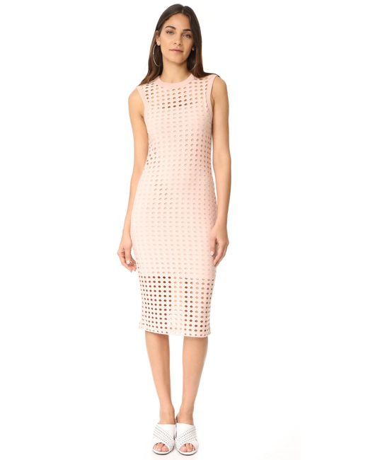 T By Alexander Wang | Pink Fitted Tank Dress | Lyst