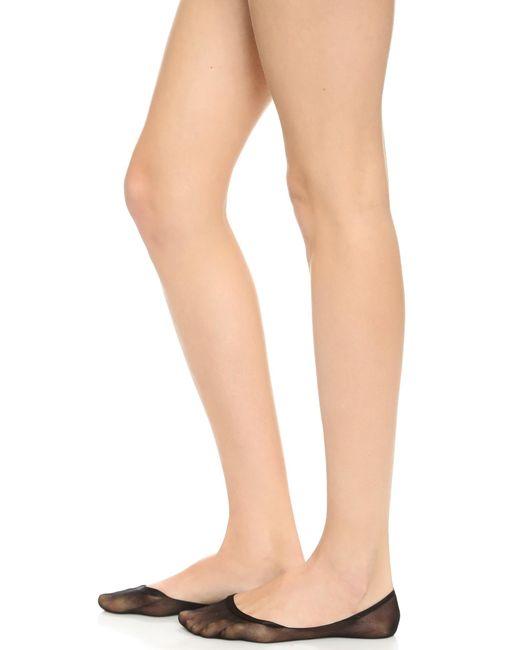 Wolford | Black Footsies 15 Socks | Lyst