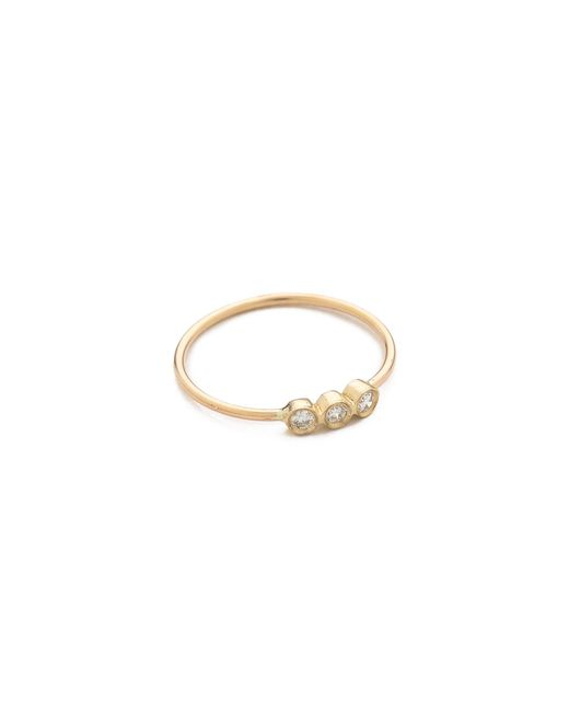 Zoe Chicco | Metallic 3 Bezel Set Ring | Lyst
