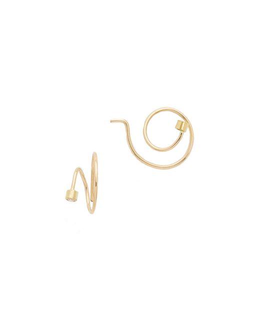 Zoe Chicco | Metallic Swirl Hoop Earrings | Lyst