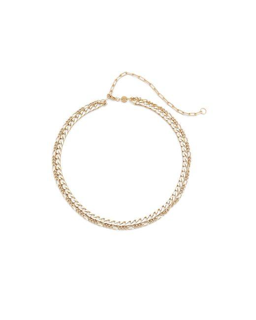 Jennifer Zeuner | Metallic Amanda Double Chain Choker Necklace | Lyst