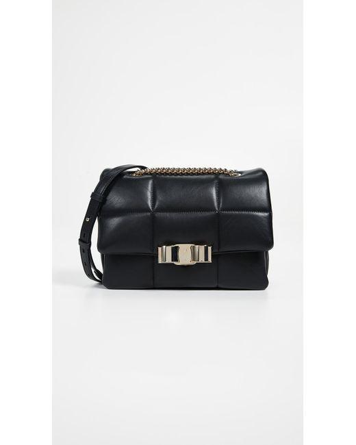 d63dd71a1723 Ferragamo - Black Vara Soft Shoulder Bag - Lyst ...