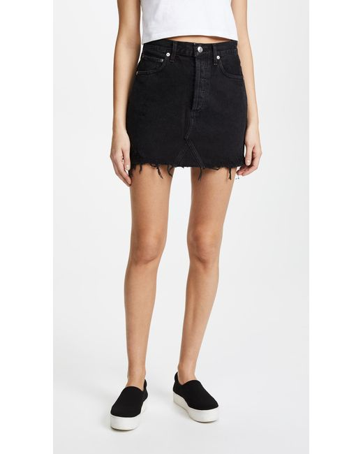 a4430a4288 Agolde Quinn High Rise Skirt. Size 25,26,27,28,29,30,31,32. in Black ...