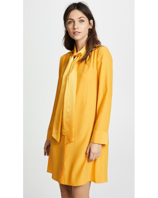 Tory Burch - Yellow Sophia Dress - Lyst