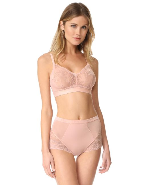 Spanx - Pink Spotlight On Lace Bralette - Lyst