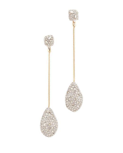 Alexis Bittar   Metallic Crystal Drop Earrings   Lyst