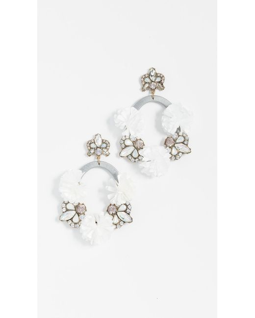 BaubleBar - Gray Ice Lily Hoop Earrings - Lyst