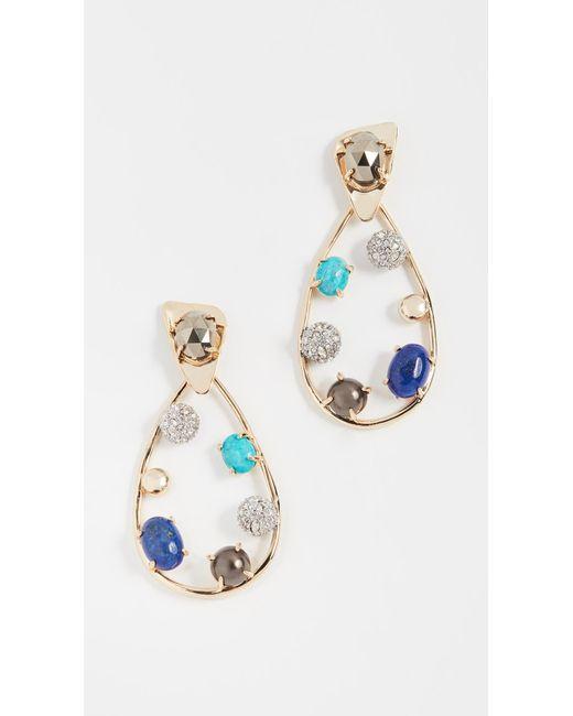 Alexis Bittar | Metallic Multi Stone Teardrop Earrings | Lyst