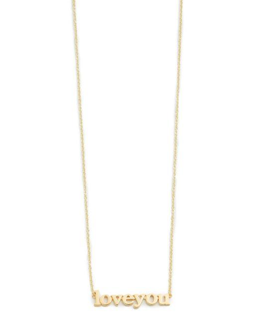 Jennifer Meyer | Metallic Love You Necklace | Lyst