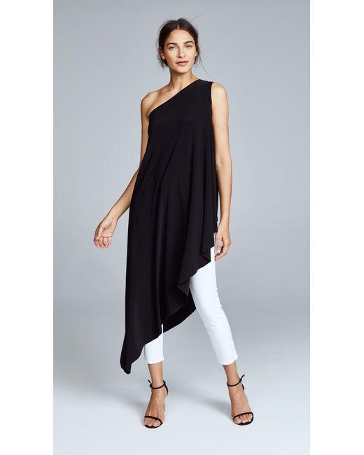Norma Kamali - Black Kamali Kulture One Shoulder Diagonal Tunic - Lyst