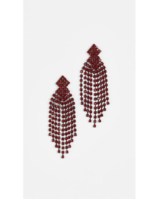 Kenneth Jay Lane | Red Waterfall Earrings | Lyst