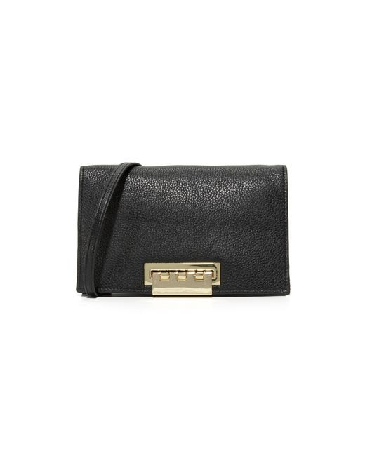 Zac Zac Posen | Black Pebble Eartha Relaxed Cross Body Bag | Lyst