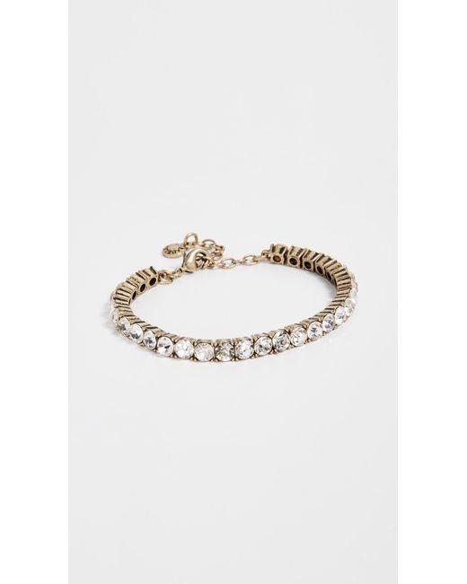 BaubleBar - Metallic Rhinestone Bracelet - Lyst