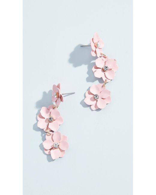 BaubleBar - Multicolor Three Station Flower Drop Earrings - Lyst