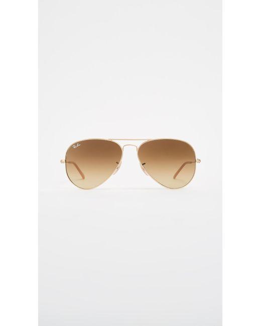 a8d6a27efc Ray-Ban - Metallic Matte Classic Aviator Sunglasses - Lyst ...