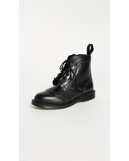 Dr. Martens - Black Delphine 8 Eye Brogue Boots - Lyst