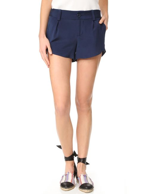 Alice + Olivia | Blue Butterfly Shorts | Lyst