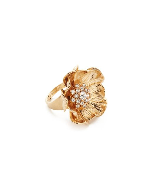 Kate Spade | Metallic Precious Poppies Ring | Lyst