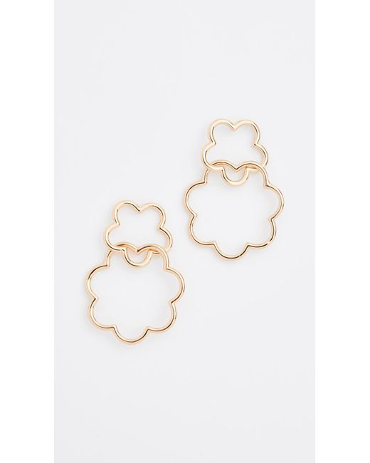Kate Spade - Metallic Scrunched Scallops Drop Earrings - Lyst