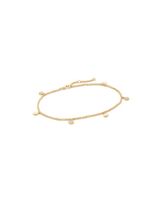 Shay Dangle Drop anklet - Metallic 15CY2pQ