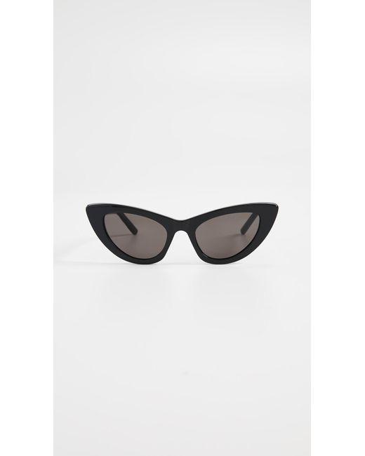 5cd03f97512e Saint Laurent - Black Sl 213 Lily Sunglasses - Lyst ...