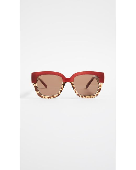 Quay - Brown Don't Stop Sunglasses - Lyst