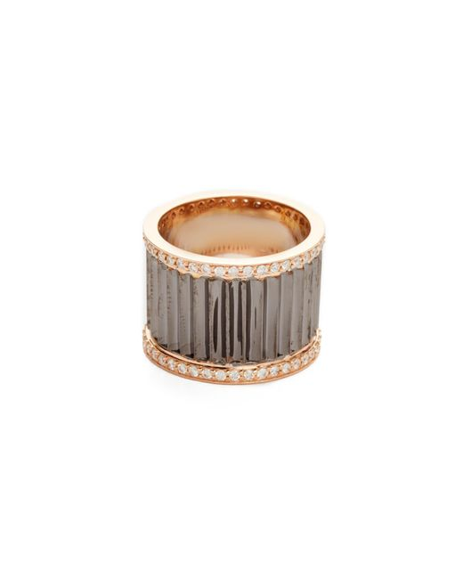 Walters Faith | Metallic Clive Wide Diamond Fluted Band Ring | Lyst