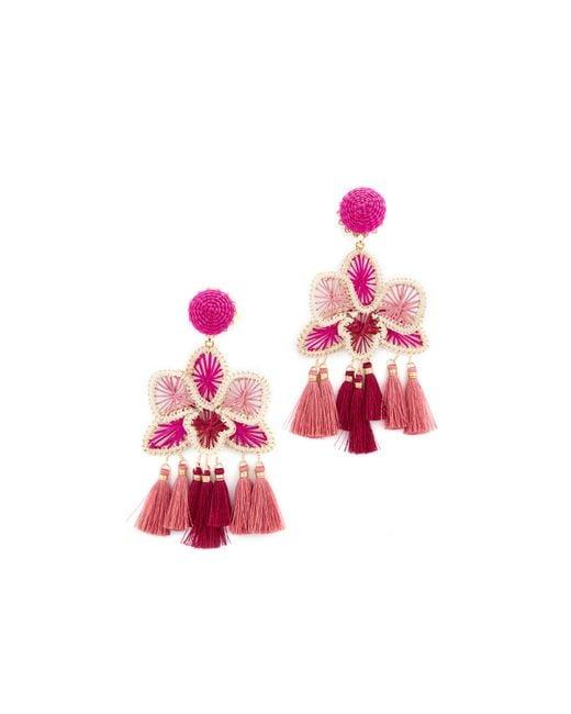 Mercedes Salazar   Pink Orquidea Rosa Clip On Earrings   Lyst