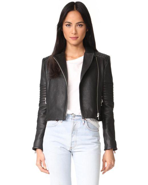 J Brand | Black Aiah Leather Jacket | Lyst