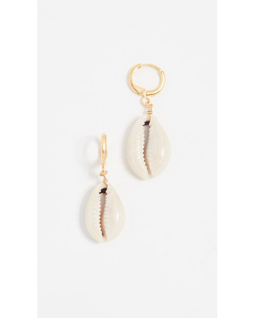 Shashi - White Caroline Earrings - Lyst