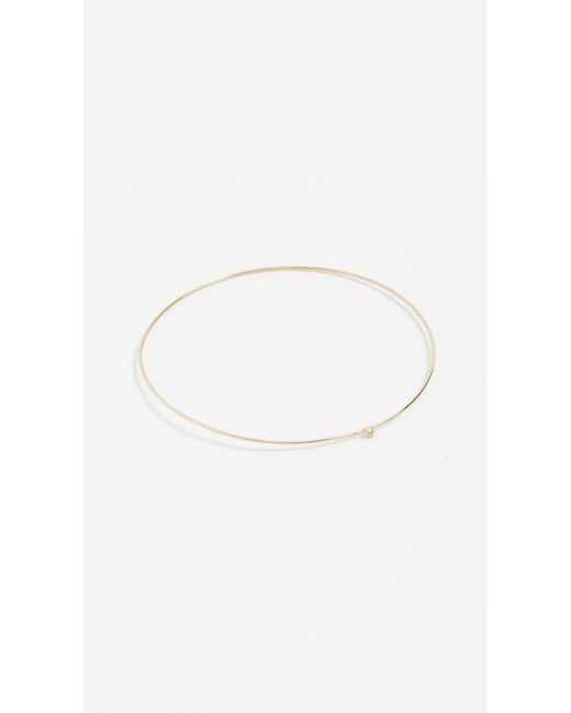 Jennifer Meyer | Metallic 18k Gold Diamond Thin Bangle | Lyst