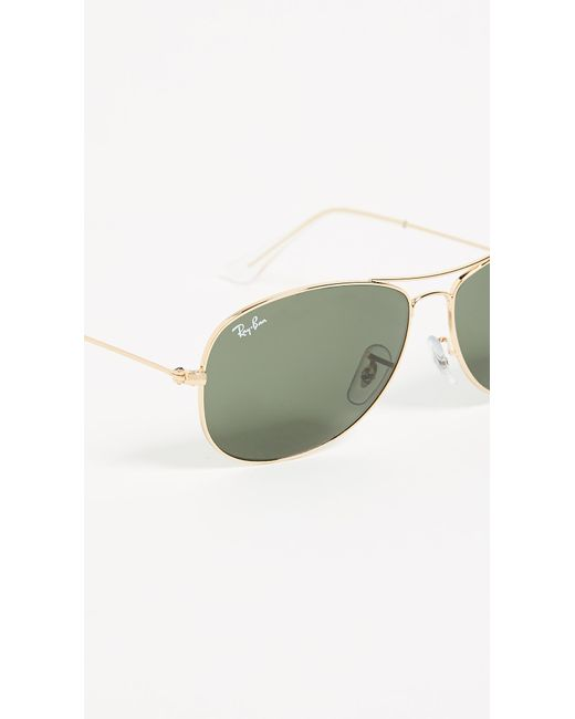 24e750471c Ray-Ban Cockpit Aviator Sunglasses in Metallic - Save 29% - Lyst