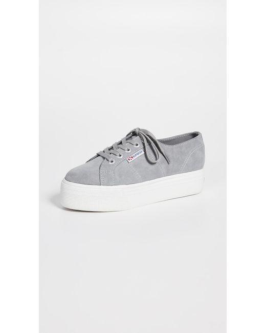 eeacf0d2e7a0 Superga 2790 Acotw Platform Sneakers in Gray - Save 34% - Lyst