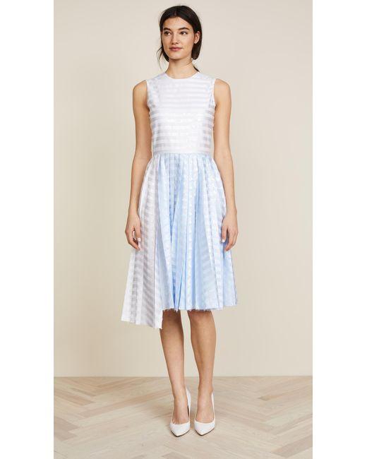 Jourden - White Gel Asymmetric Dress - Lyst