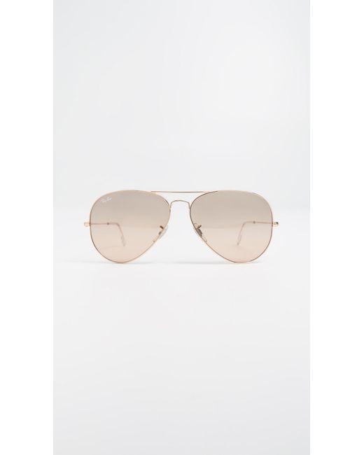1cfd1828ecf Ray-Ban - Metallic Rb3025 Oversized Mirrored Original Aviator Sunglasses -  Lyst ...