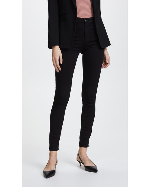 AG Jeans - Black Superior Stretch Farrah High Rise Jeans - Lyst