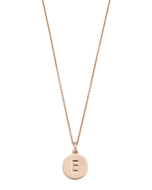 Kate Spade | Metallic Initial Pendant Necklace | Lyst