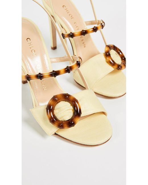 2a4d77192ae9bb ... Chloe Gosselin - Yellow Celeste Sandals - Lyst ...
