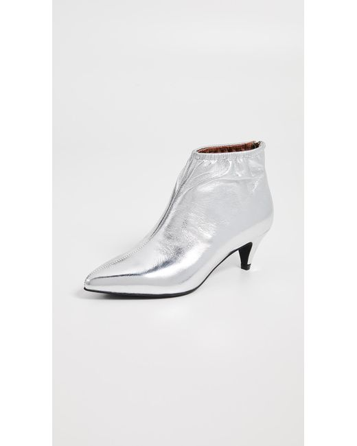 e73ef4c16ee Lyst - Jeffrey Campbell Zosia Low Heel Booties in Metallic - Save 70%