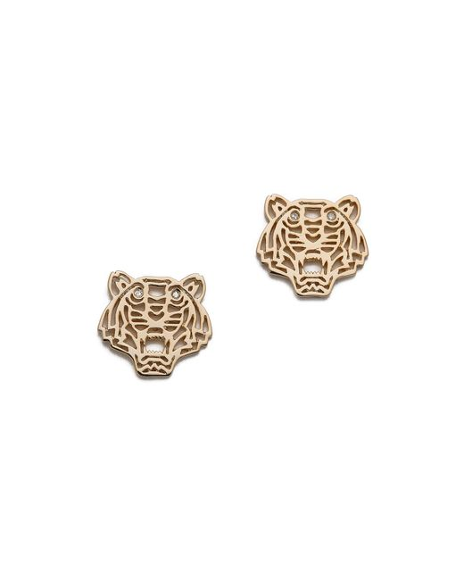 KENZO | Metallic Mini Tiger Earrings | Lyst