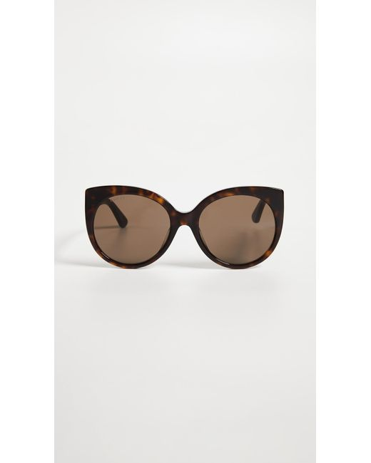 e62efdc44c8 Gucci - Brown Cat-eye Sunglasses - Lyst ...