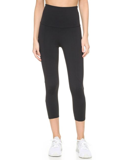Live The Process - Black Geometric Crop Legging - Lyst