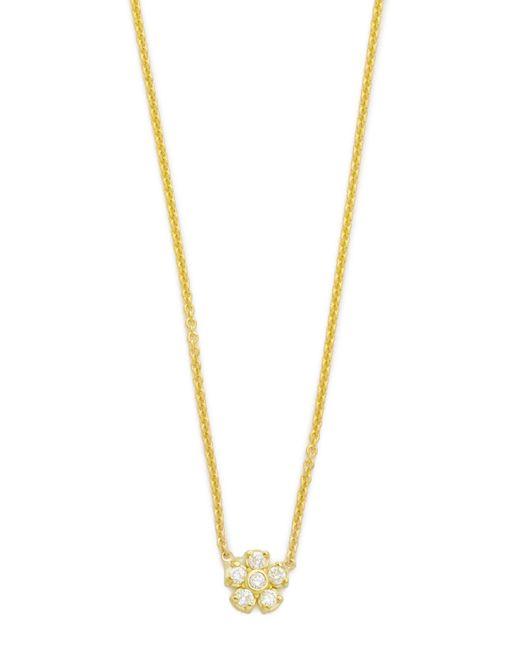 Jennifer Meyer - Metallic Diamond Single Flower Necklace - Lyst