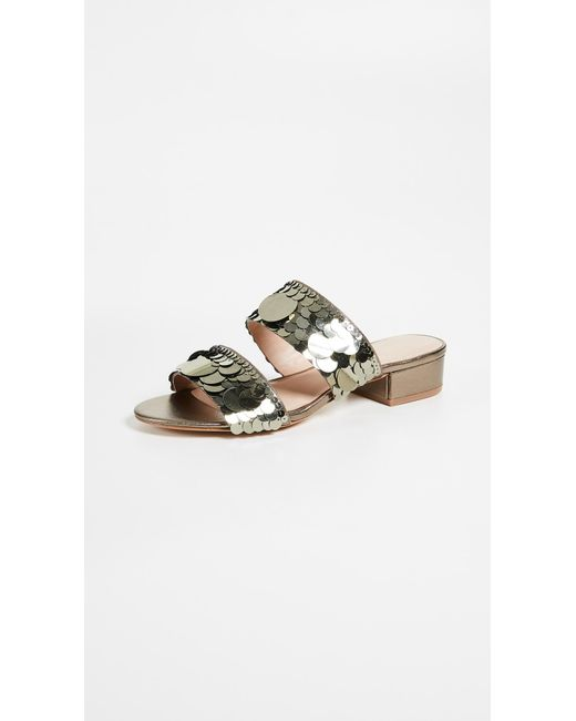 Rachel Zoe - Metallic Addison Sequin Sandals Silver - Lyst