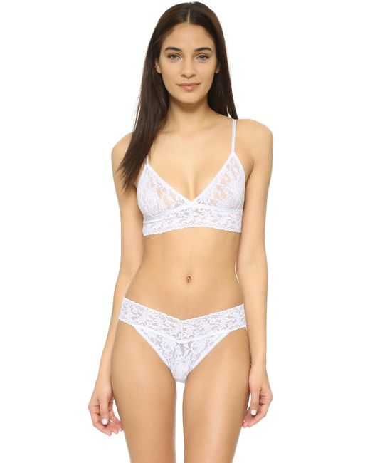 Hanky Panky | White Stretch Lace Soft Bra | Lyst